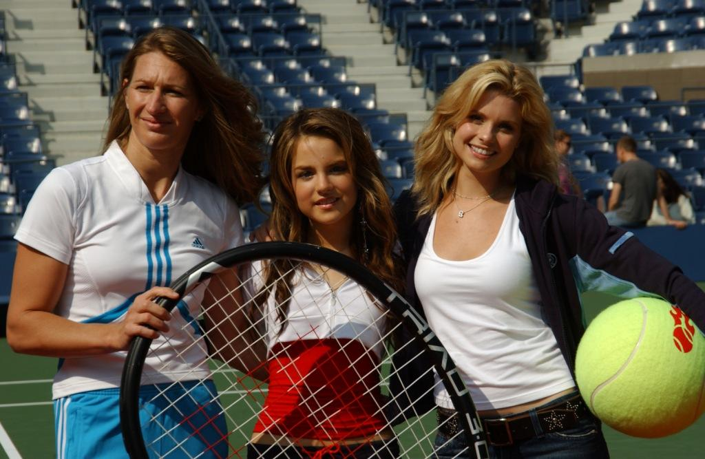 Steffie Graf, Joanna 'Jojo' Levesque and Joanna Garcia at the Arthur Ashe Day at the U.S. Open.