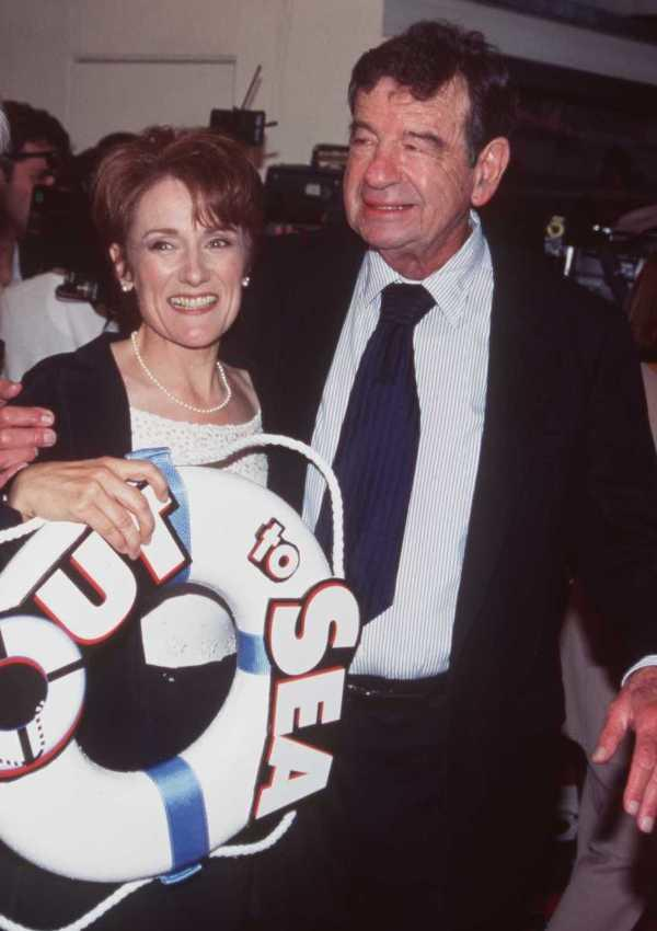 Martha Coolidge and Walter Matthau at the premiere of