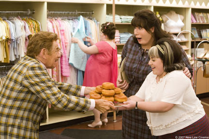 Jerry Stiller as Mr. Pinky, John Travolta and Nikki Blonsky in