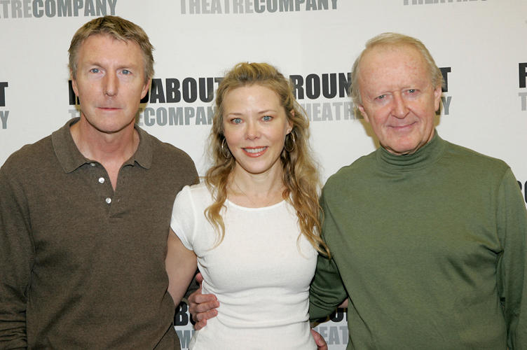 Byron Jennings, Kathryn Meisle and John Horton at the photocall of