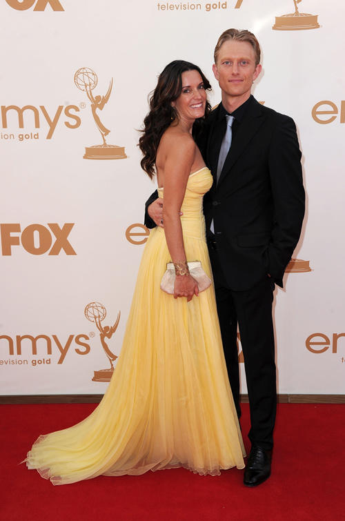 Kylie Furneaux and Neil Jackson at the 63rd Annual Primetime Emmy Awards in California.