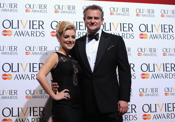 Sheridan Smith and Hugh Bonneville at the Laurence Olivier Awards in London.