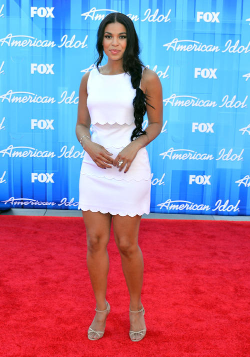Jordin Sparks at the American Idol 2012 Finale in California.