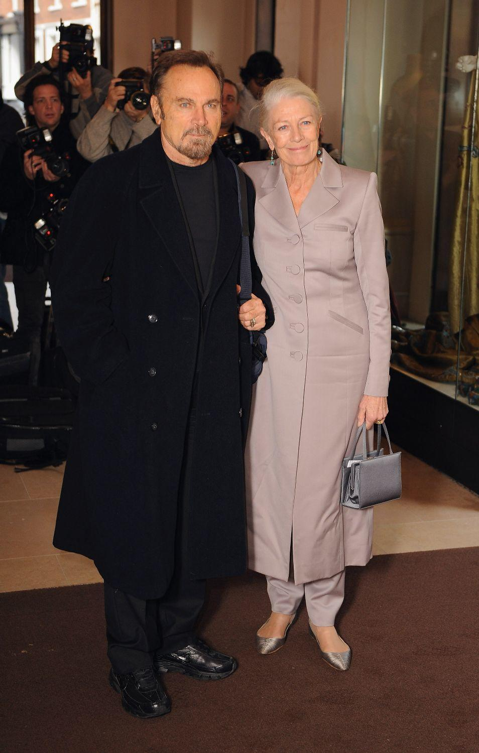 Franco Nero and Vanessa Redgrave at the London Evening Standard Theatre Awards.