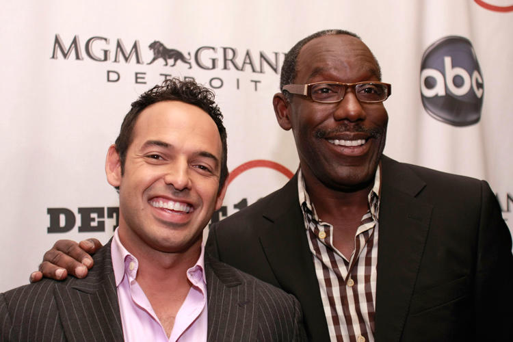 Shaun Majumder and James McDaniel at the special screening of