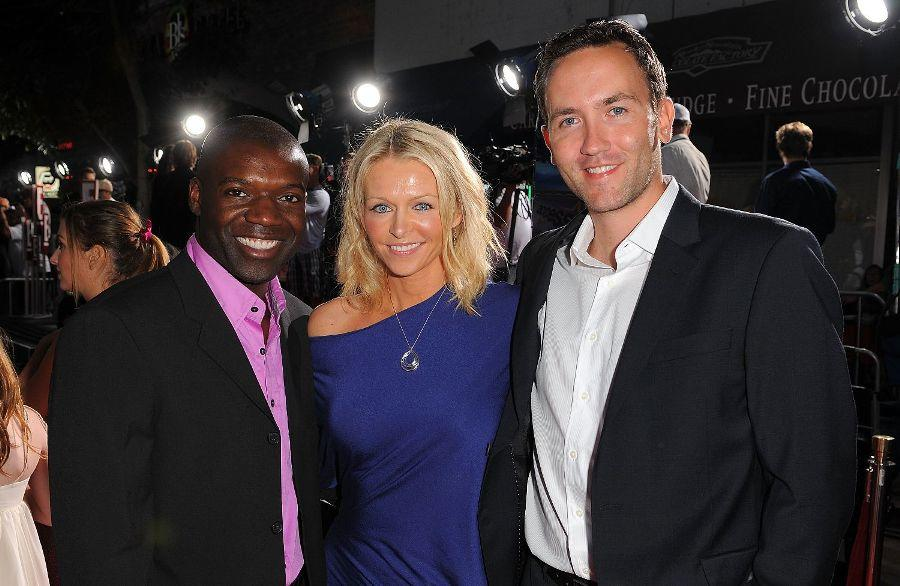 Panou, Anne Marie DeLuise and Tyler McClendon at the premiere of