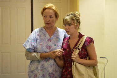 Mary Elizabeth Ellis as Olive and Rita Taggart as Nurse Green in