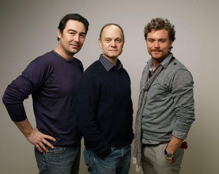 Nathaniel Parker, David Hyde Pierce and Clayne Crawford at the 2010 Sundance Film Festival.