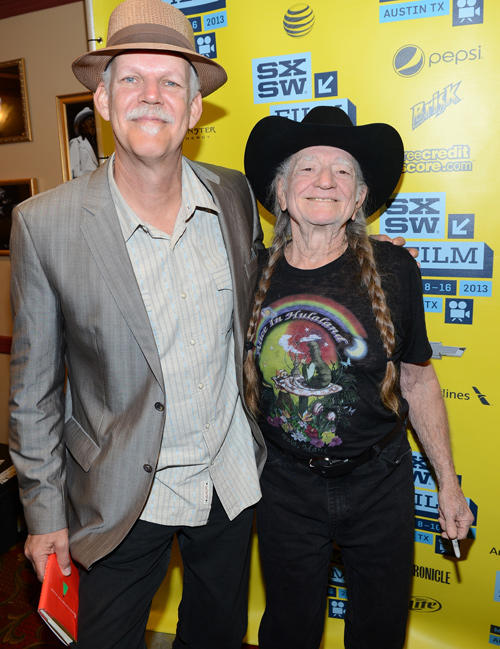 Turk Pipkin and Willie Nelson at the premiere of