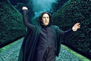 Alan Rickman as Severus Snape in