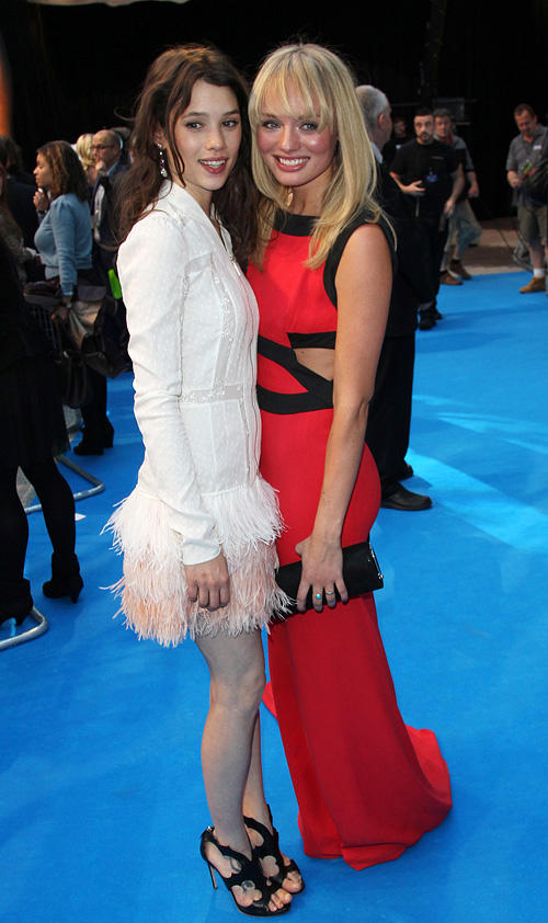 Astrid Berges-Frisbey and Laura Haddock at the UK premiere of