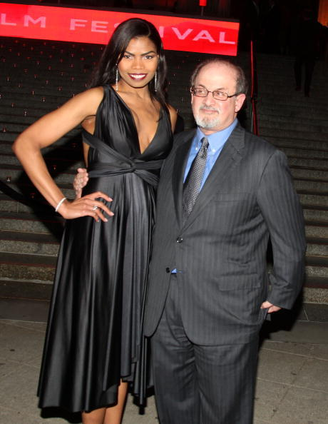 Pia Glenn and Salman Rushdie at the Vanity Fair party during the 2009 Tribeca Film Festival.