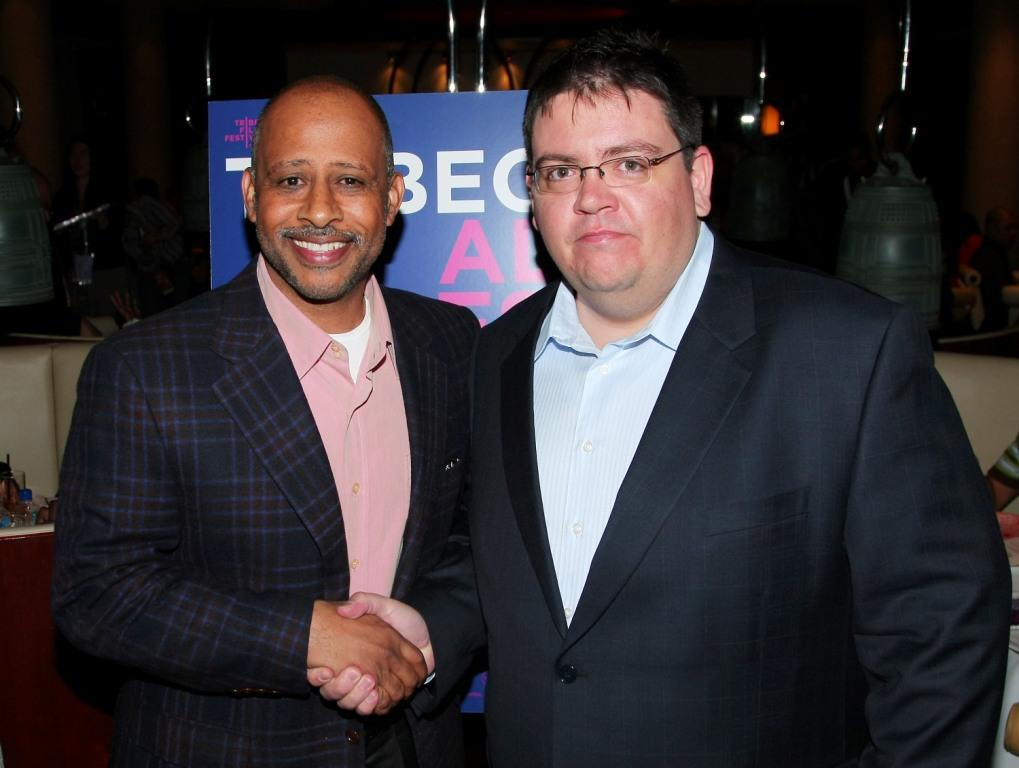 Ruben Santiago-Hudson and Brian Newman at the 2009 Tribeca Film Festival.