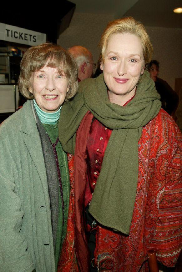 Betsy Blair and Meryl Streep at the special screening of