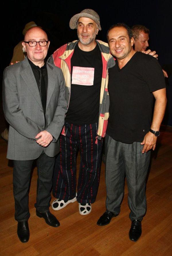 Michel Blanc, Ron Arad and Patrick Timsit at the opening of