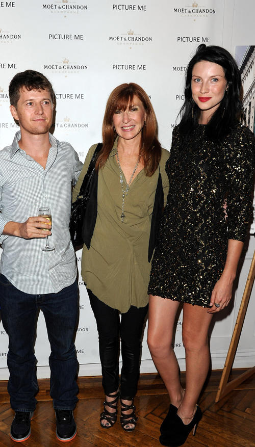 Co-director Ole Schell, designer Nicole Miller and Caitriona Balfe at the