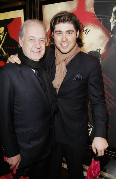 John Standing and son Archie at the UK Premiere of