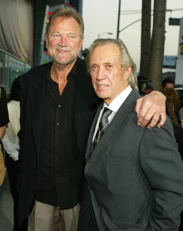 Bo Svenson and David Carradine at the premiere of