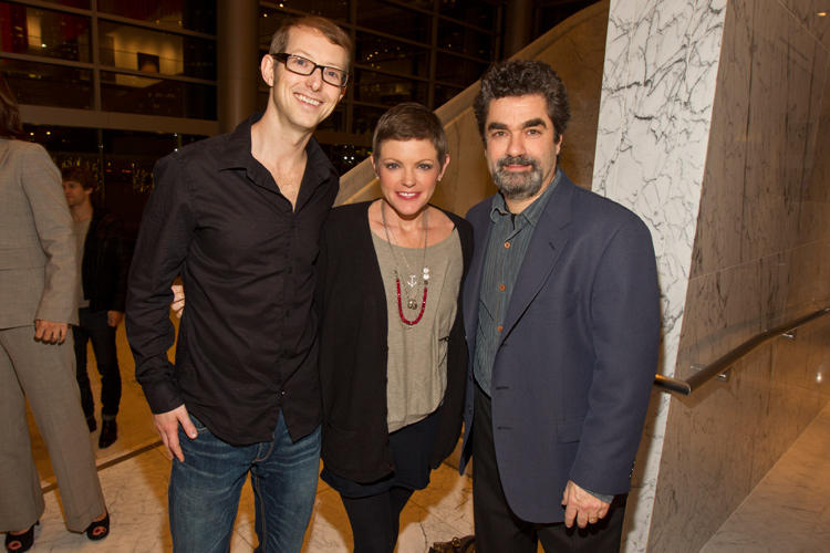 Jason Baldwin, musician Natalie Maines and director Joe Berlinger at the California premiere of