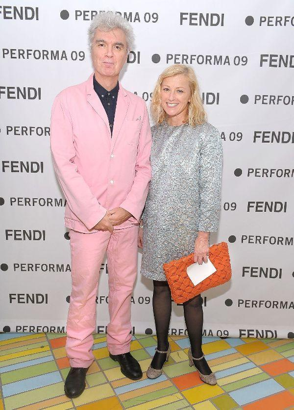 David Byrne and Cindy Sherman at the Performa 09 Opening Night Benefit Dinner.