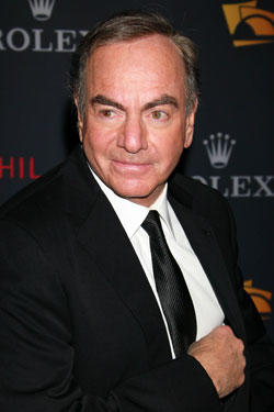Neil Diamond attends the Los Angeles Philharmonic opening night gala to celebrate music director Gustavo Dudamel and Peruvian tenor Juan Diego Florez at the Walt Disney Concert Hall on October 7, 2010 in Los Angeles, California.
