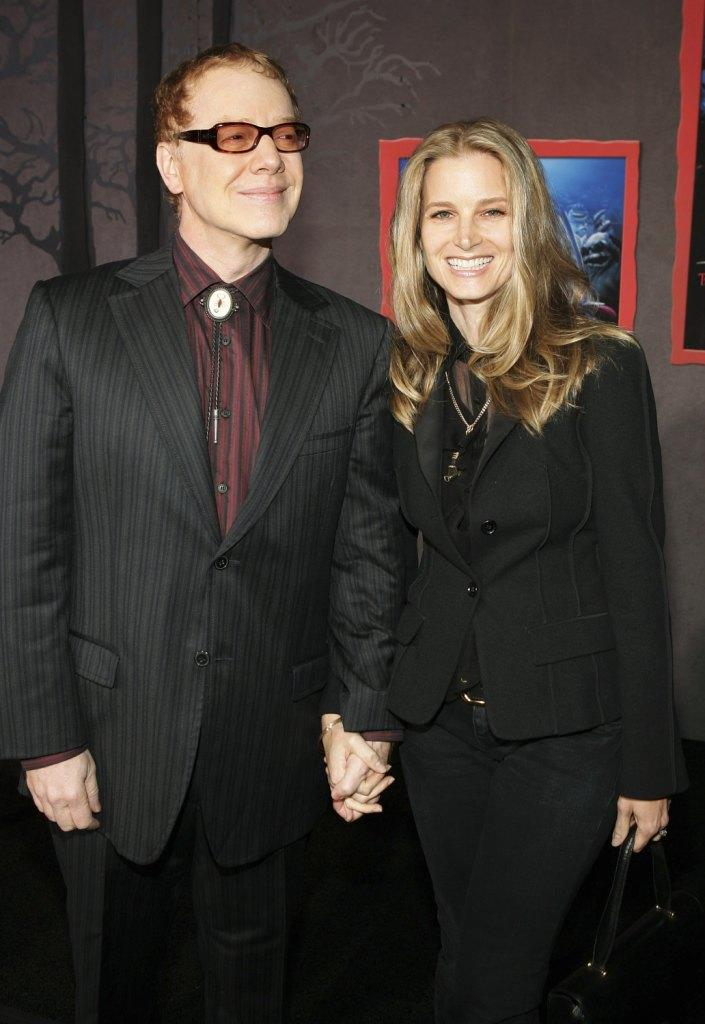 Danny Elfman and Bridget Fonda at the premiere of