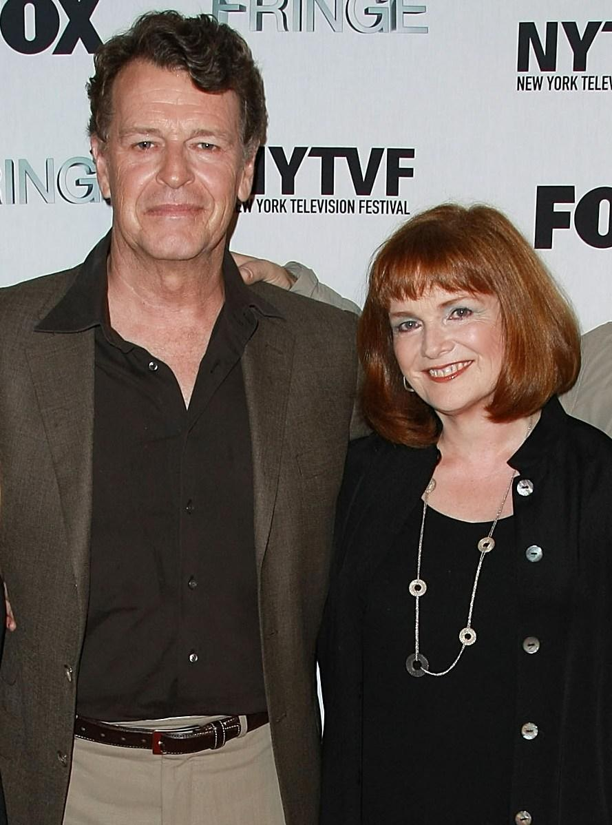 John Noble and Blair Brown at the premiere of