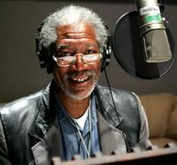 Morgan Freeman in MARCH OF THE PENGUINS