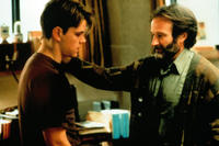 Ben Affleck and Robin Williams in Good Will Hunting