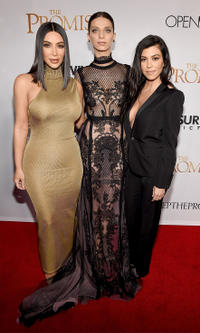 Kim Kardashian West, Angela Sarafyan and Kourtney Kardashian