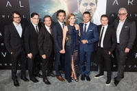 Producer Dan Cohen, screenwriter Eric Heisserer, producer Aaron Ryder, producer Shawn Levy, Amy Adams, Jeremy Renner, producer Dan Levine and producer David Linde