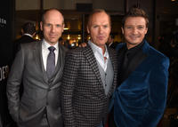 Dan Hansfield, Michael Keaton and Jeremy Renner