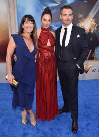Patty Jenkins, Gal Gadot and Chris Pine