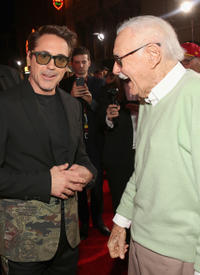 Robert Downey Jr. and Stan Lee