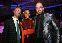 Sean Gunn, Zoe Saldana and Chris Sullivan