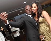 Djimon Hounsou & Kimora Lee Simmons