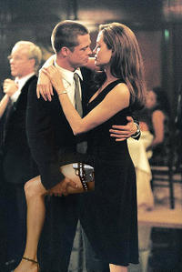 Sexiest Couple #2. Mr. and Mrs. Smith - Brad Pitt and Angelina Jolie