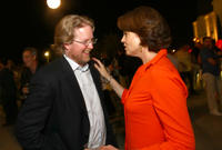 Director Andrew Stanton and Sigourney Weaver
