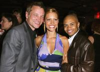 Clint Coldpepper, Kadee Strickland and Eugene Byrd at the after party of the Los Angeles screening of