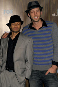 Eugene Byrd and Joel David Moore at the Fox Winter 2010 All-Star party in California.