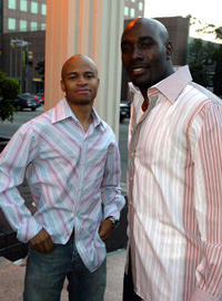 Eugene Byrd and Morris Chestnut at the California premiere of