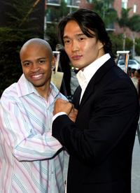 Eugene Byrd and Karl Yune at the Los Angeles screening of
