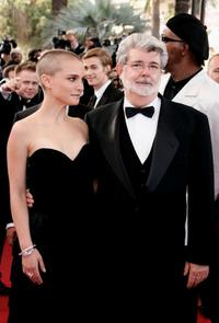 George Lucas and Natalie Portman at the 58th International Cannes Film Festival screening of