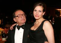 Sidney Lumet and Julia Roberts at the Governors Ball after the 77th Annual Academy Awards at The Highlands.