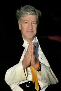David Lynch at a candelit ceremony to bury a foundation stone for the