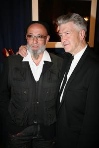 David Lynch and Charlelie Couture at the opening of the Christian Louboutin/David Lynch cocktail party at the Galerie du Passa.