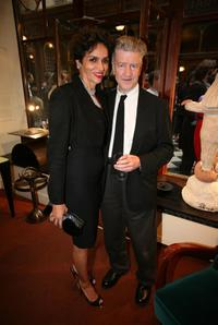 David Lynch and Farida Khalfa at the opening of the Christian Louboutin/David Lynch cocktail party at the Galerie du Passa.