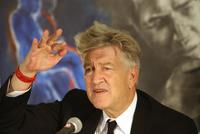 David Lynch at a press conference at the Sam Spiegel School of Film and TV in Jerusalem.