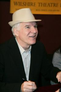 Steve Martin signs copies of his book