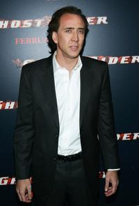 Nicolas Cage at the premiere of
